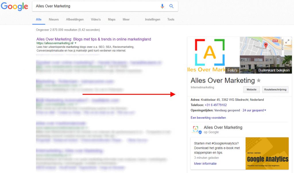 Lokale vindbaarheid Google bedrijfspagina