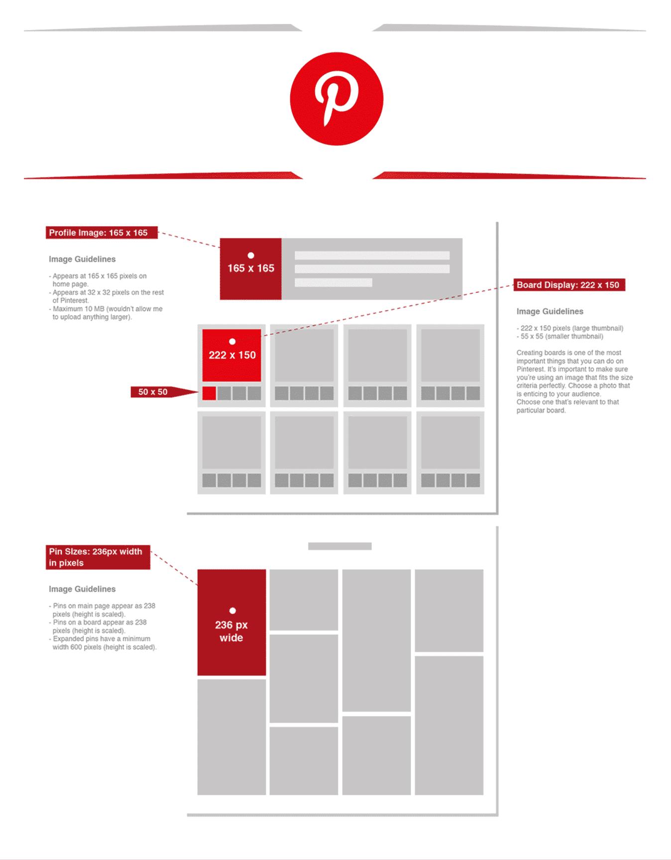 Pinterest afmetingen 2019