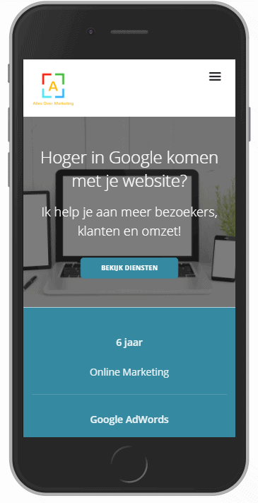 Mobiele responsive website
