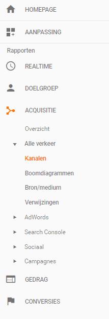 Google analytics acquisitie