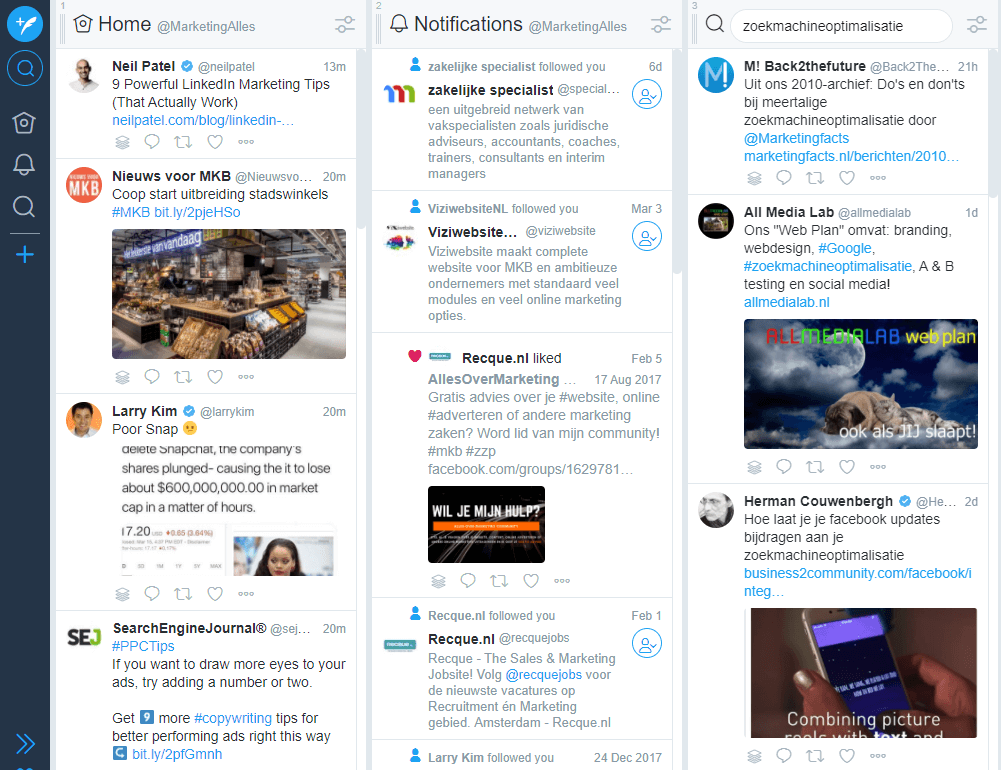 social media monitoring tools tweetdeck dashboard