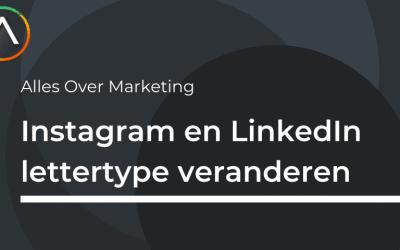 Simpel het 🅻🅴🆃🆃🅴🆁🆃🆈🅿🅴 van Instagram en LinkedIn veranderen